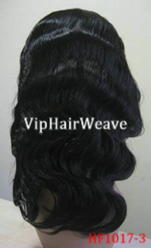 """18"""" Super Wave Human Hair Full Lace Wigs #1 HF1017"""