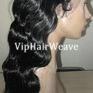16inch body wave indian remy human hair full lace wigs #1 HF1023