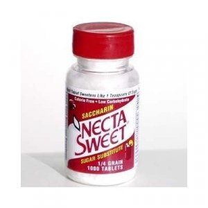 3 1000-Tablet Bottles 1/4 Grain Necta Sweet Saccharin Tablets NectaSweet