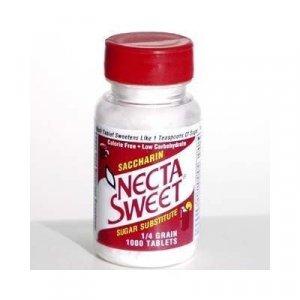 6 1000-Tablet Bottles 1/4 Grain Necta Sweet Saccharin Tablets NectaSweet