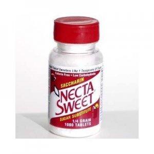 2 1000-Tablet Bottles 1/4 Grain Necta Sweet Saccharin Tablets NectaSweet