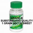 Grade B Substandard Quality NectaSweet Saccharin Tablets 1 Grain 1000 Tablet Bottle (8 Bottle Pack)