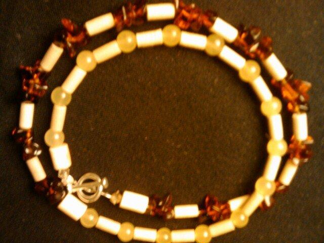 "handcrafted 9"" gemstone wrap around anklet"