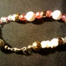 "handcrafted 9""  Pretty in Pink anklet"