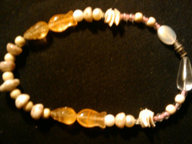 """handcrafted sandy beach 10"""" fashion anklet"""