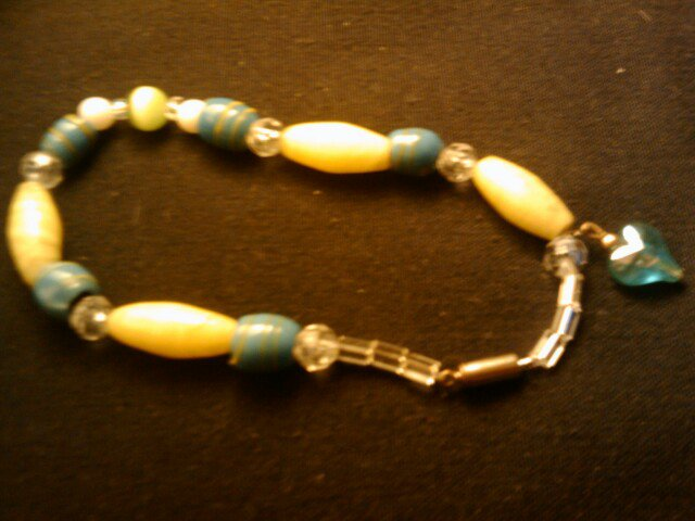 """handcrafted 9"""" anklet"""