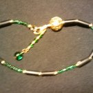 "handcrafted emerald green 10"" fashion anklet"