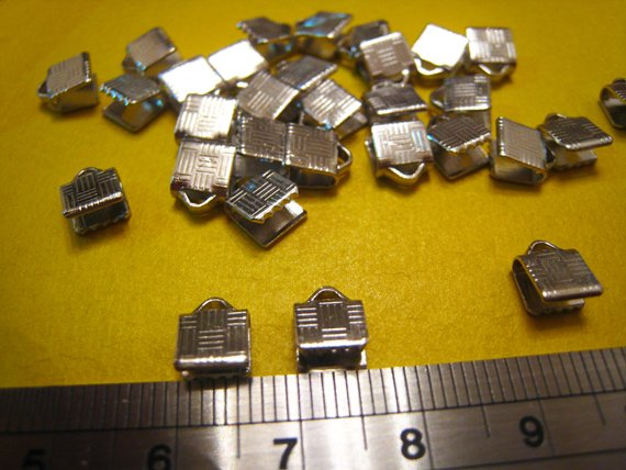 40 pcs Silver Plated Leather Crimps Cord Ends For Leather 6mmFrom heaedges