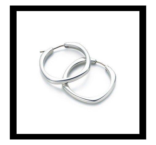 Cushion Hoop earrings