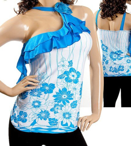 Blue and white blouse -SMALL, MEDIUM, LARGE