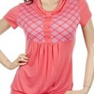 Plus Coral Coloured Short Sleeve Shirt 1XL - 2XL - 3XL
