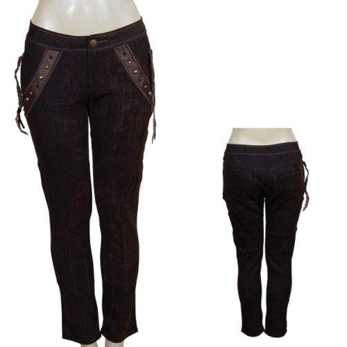 Brown Pants with Tasseled Detail SMALL, MEDIUM