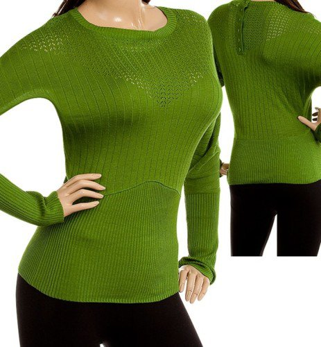 Green Long Sleeve Knit Sweater MEDIUM, LARGE, XLARGE