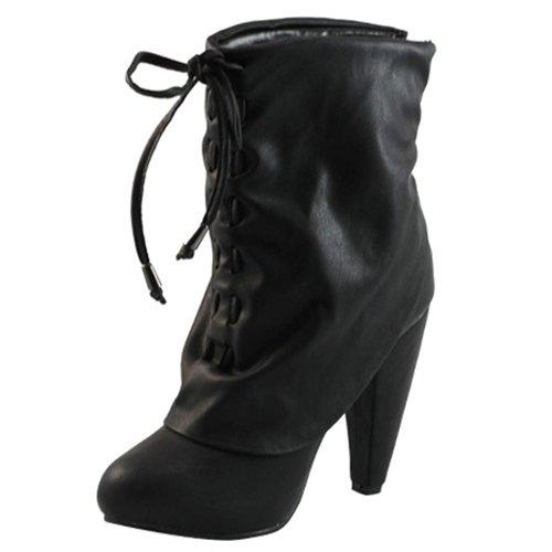 Black  Booties with 4.5 inch heel 6 -7 -7.5 - 8.5 - 9 - 10