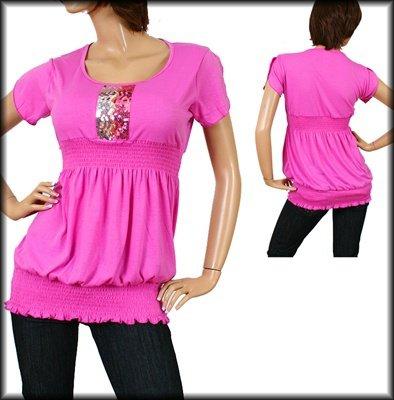Pink Short Sleeve Shirt 1XL - 2XL - 3XL
