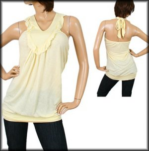 Plus Yellow Halter Top 1XL, 2XL, 3XL
