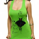 "Green ""My Little Black Dress"" Tank SMALL, MEDIUM"