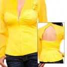Yellow Long Sleeve Blouse SMALL, MEDIUM, LARGE