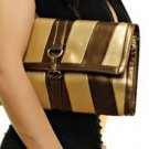 Brown Striped Hand Purse