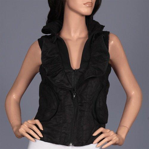Black Sleeveless Vest with Hood SMALL, MEDIUM, LARGE