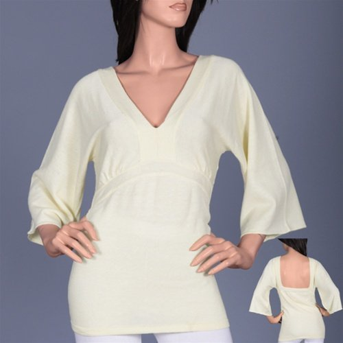 Long Sleeve Cream Blouse  SMALL, MEDIUM, LARGE