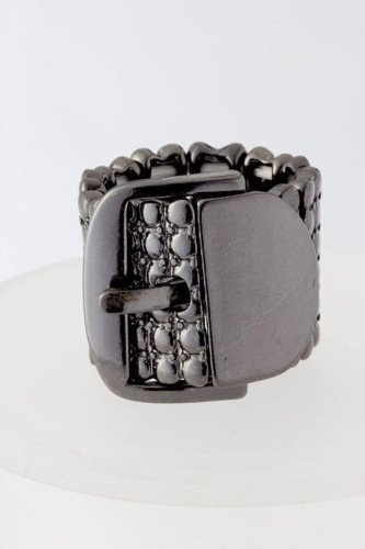 Hermatite Stretchable Belt buckle Ring