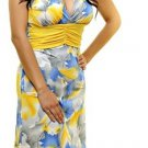 Yellow and Blue Print Dress SMALL, MEDIUM, LARGE