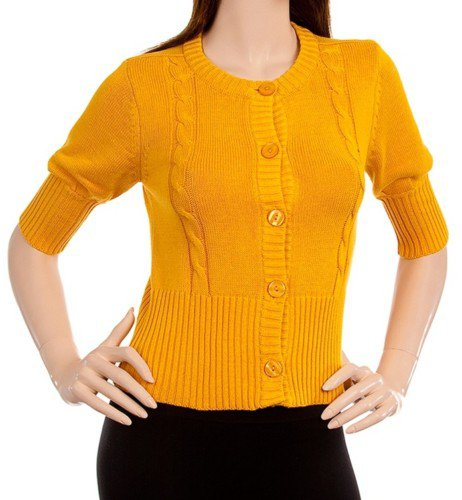 Yellow 3/4 Sleeve Sweater - SMALL, MEDIUM, LARGE