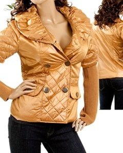 Gold Coloured Winter Coat - SIZE SMALL-MEDIUM-LARGE