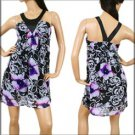 Purple and Black Abstract Dress SMALL MEDIUM LARGE