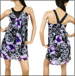 Purple and Black Abstract Dress SMALL MEDIUM LARGE