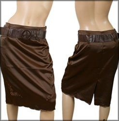 Brown Knee Length Skirt SMALL MEDIUM LARGE