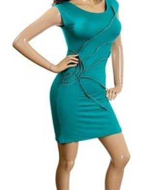 Turquoise Zippered Dress SMALL MEDIUM LARGE