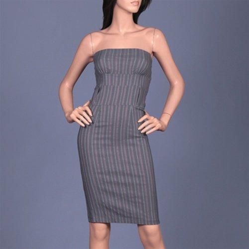 Grey Pinstripe Dress - SMALL, LARGE
