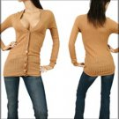 Brown Long Sleeve Shirt-SMALL, MEDIUM, LARGE