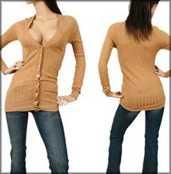 Brown Long Sleeve Shirt-SMALL, MEDIUM, LARGE