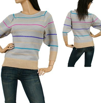 Grey Striped Sweater SMALL, MEDIUM, LARGE