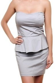 Grey Tube Dress MEDIUM