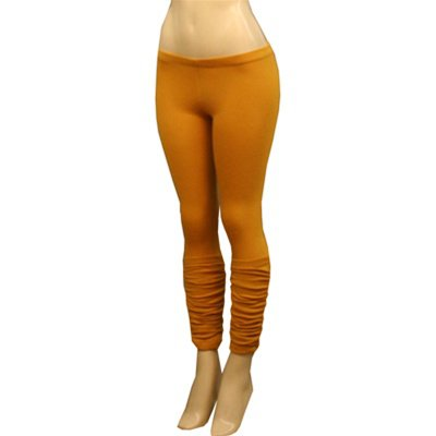 Mustard Coloured Leggings with Ruching SMALL, MEDIUM, LARGE