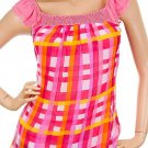 Pink Shirt with Checkered Print SMALL, MEDIUM, LARGE