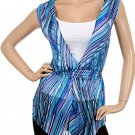Blue Chiffon Blouse with Tank Top SMALL, MEDIUM, LARGE