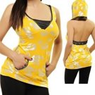 Yellow Open Back Hoodie  MEDIUM