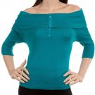 Teal Off shoulder Blouse XSMALL, SMALL
