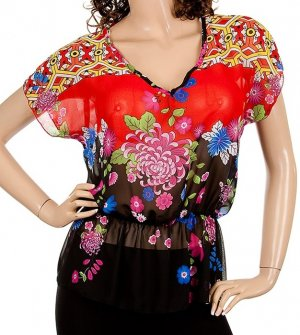 Floral Print Blouse SMALL, MEDIUM, LARGE