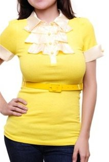 Yellow Belted Blouse SMALL, MEDIUM, LARGE