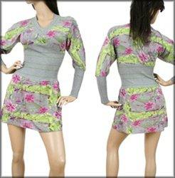 Grey Multi Long Sleeve Dress SMALL, MEDIUM, LARGE