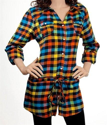Plaid Long Sleeve Shirt SMALL, MEDIUM