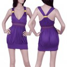 Purple Empire Waist Halter Top SMALL - MEDIUM - LARGE