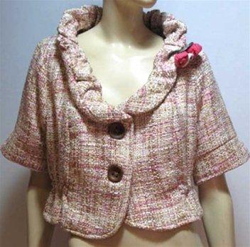 Plus Pink Woven Jacket - 1XL - 4XL