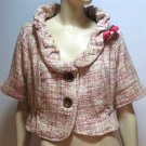 Plus Pink Woven Jacket - 1XL - 4XL